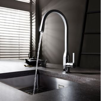 Crosswater Svelte Side Lever Kitchen Mixer Tap