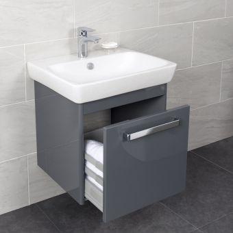 Vitra M-Line 600mm Single Drawer Vanity