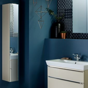Roper Rhodes Scheme Tall Mirrored Storage Cabinet