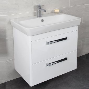 Vitra M-Line 800mm Double Drawer Vanity