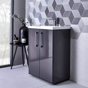 Roper Rhodes Scheme 600mm Freestanding Basin Unit with Isocast Basin