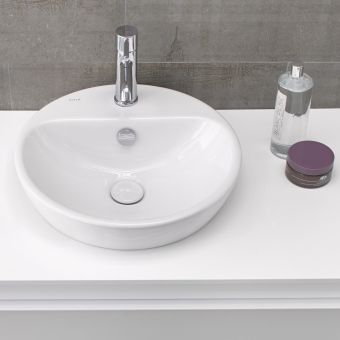 VitrA M-Line Round Countertop Basin with Ledge