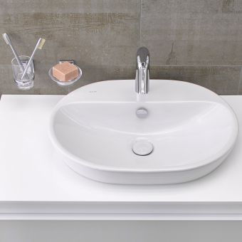 VitrA M-Line Oval Countertop Basin with Ledge - 59430030001