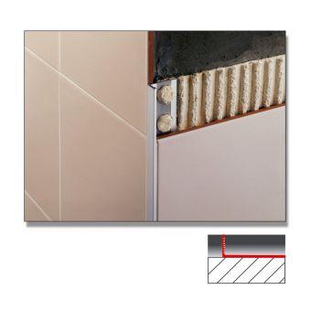 Abacus Flat Edge Metal Tile Trims