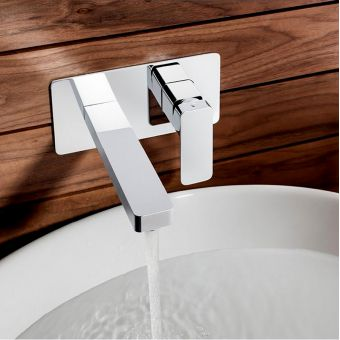 Crosswater Atoll Wall Mounted 2 Hole Basin Set