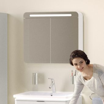 VitrA Nest 2 Door 80cm Mirror cabinet