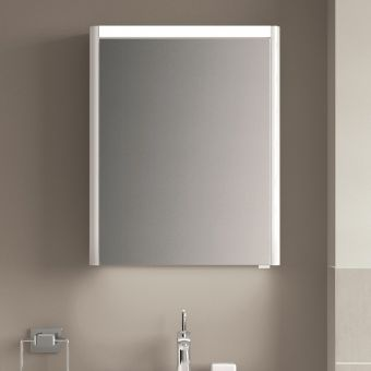 VitrA T4 1 Door Illuminated Mirror Cabinet