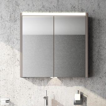 VitrA T4 2 Door Illuminated Mirror Cabinet