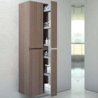VitrA Memoria Tall Cabinet with Pull Out Storage