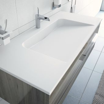 VitrA System Infinit Vanity with Angular Basin
