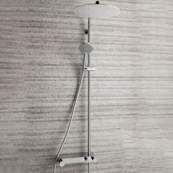 Crosswater Ethos Thermostatic Shower Valve with Fixed Head and Single Mode Handset
