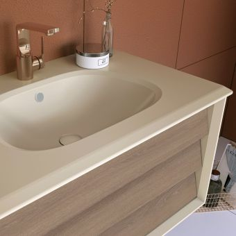 VitrA Frame 1 Drawer Vanity with Taupe Basin