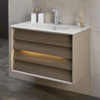 VitrA Frame 2 Drawer 80cm Vanity with Basin