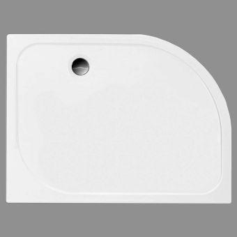 Merlyn MStone 50mm Quadrant Shower Tray Left Handed 1200 x 900mm