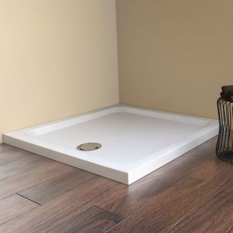 Matki Fineline 900mm Square Raised Shower Tray with 3 Tile Upstands