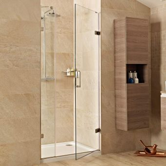 Roman Showers Liberty Hinged Door with One In-Line Panel