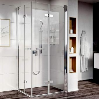 Roman Showers Innov8 Bi-Fold Easy Access Corner Enclosure
