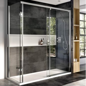 Roman Decem Level Access Corner Sliding Door Shower Enclosure