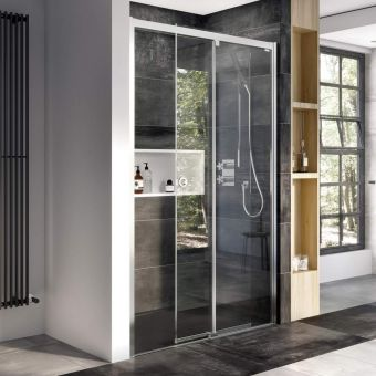 Roman Decem Level Access Sliding Door Shower Enclosure for Recess
