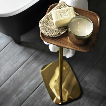VitrA Eternity Freestanding Towel Rail with Shelf - 4487023GOLD