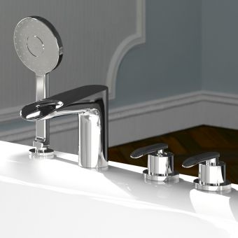 VitrA T4 Deck Mounted Bath Shower Mixer Tap Set
