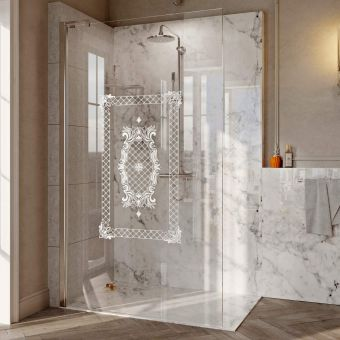 Roman Decem Victoriana Print Wetroom Shower Panel