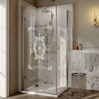Roman Decem Victoriana Hinged Door Corner Shower Enclosure