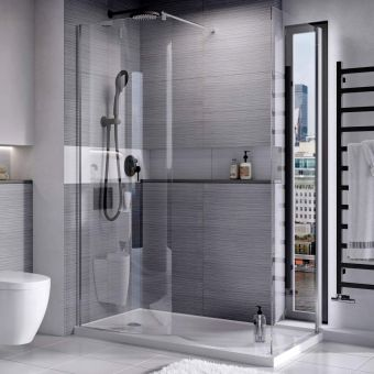 Roman Lumin8 Curved Wetroom Panel