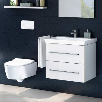 Villeroy and Boch Avento Wall Hung Toilet and Vanity Unit Pack