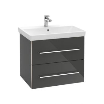 Villeroy & Boch Avento 650mm Basin with Vanity Unit (Crystal Black)