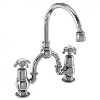 Burlington Anglesey Bridge Basin Mixer with Curved Spout