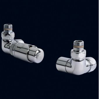 Bisque Thermostatic Angled Valve Set L - Chrome
