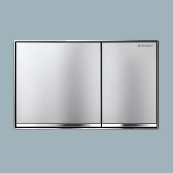 Geberit Sigma60 Dual Flush Plate - Brushed Chrome