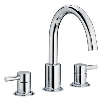 Swadling  Absolute Swan Neck Deck Mounted Basin Mixer