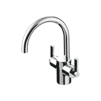 Ideal Standard Silver Basin Mixer with Waste