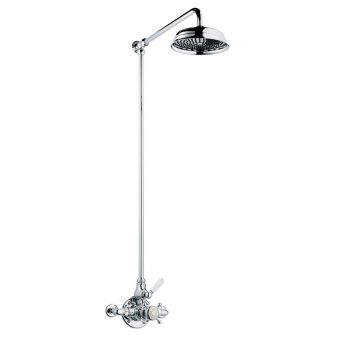 Swadling Invincible Single Exposed Shower Mixer with Rigid Riser and Deluge Head