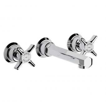 Swadling Illustrious 3 Hole Wall Mounted Basin Mixer Tap