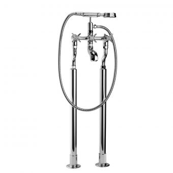 Swadling Illustrious Floor Mounted Bath Mixer with Shower Handset
