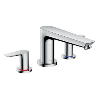Hansgrohe Talis E 3 Hole Long Spout Bath Mixer Tap