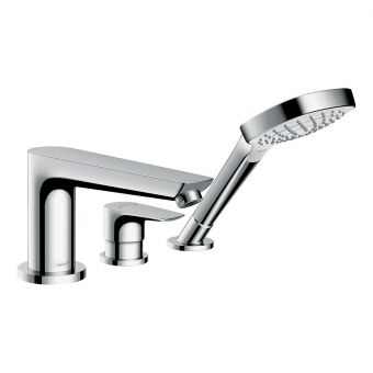 Hansgrohe Talis E 3-hole Deck-mounted Bath Mixer Tap with Shower Handset - 71731000