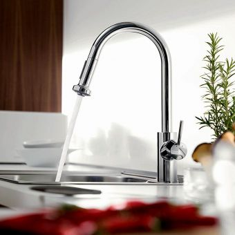 hansgrohe Talis S2 220 Variarc Kitchen Mixer with Pull-out Spray - 14877000