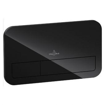 Villeroy & Boch ViConnect LED Lit Glass Flush Plate - Glossy Black
