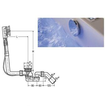 Viega Standard Bath Waste Set with M5 Trim Set - Chrome