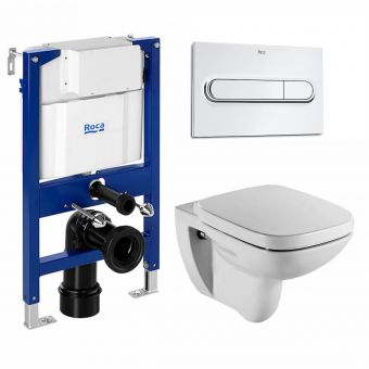 Roca Debba Wall Hung Rimless WC and Frame Package