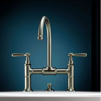 CHK Axor Montreux 2 Handle Basin Mixer Tap 220 with Pop-up Waste and Lever Handles