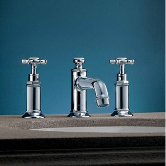 Axor Montreux 3 Hole Basin Mixer Tap 30 with Pop-up Waste