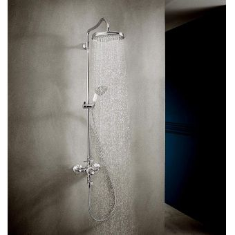 AXOR Montreux Showerpipe with Thermostatic Valve and 1jet Overhead Shower