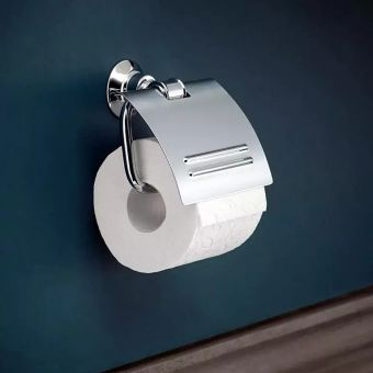 CHK AXOR Montreux Toilet Roll Holder with Lid