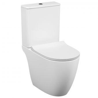 VitrA Sento Close Coupled Open Back Rimless Toilet - 59880030075
