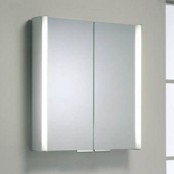 Roper Rhodes Summit Aluminium Two Door Illuminated Cabinet - Aluminium